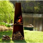 Cor-ten Steel Outdoor Fire Pit- Weather Resistant Steel