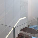 Glacier White engraved wall cladding